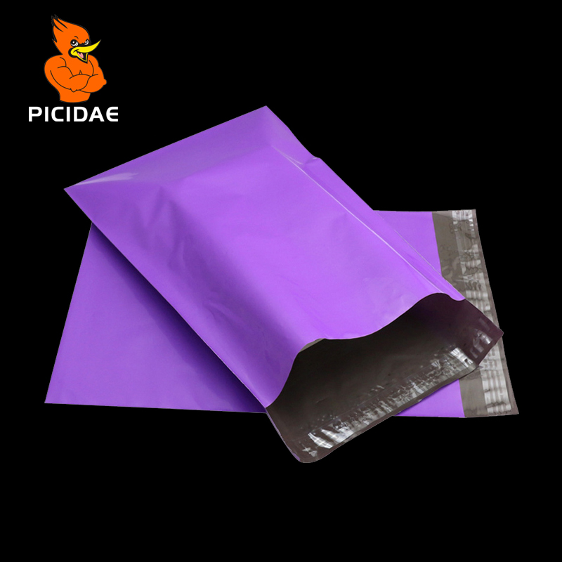 Purple Color Envelope Mailing Bag Courier Mailer Express Poly Mail By Packaging Shipping Plastic Package Self-Adhesive Supplies