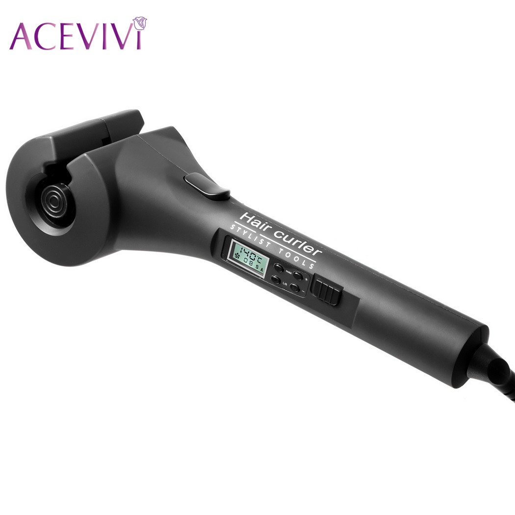 ACEVIVI Ceramic Hair Curlers Professional Automatic Hair Curling With LCD Display Hair Styling Tools Hair Curl Roller Wand mism girl french hair bun maker multifunctional hair accessories for women fine roller curls styling holder curlers headbands