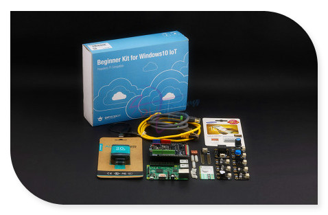 DFRobot 100% Genuine Beginner Kit for Raspberry Pi 2 Model B with for Arduino Expansion Shield compatible with Windows 10 IoT