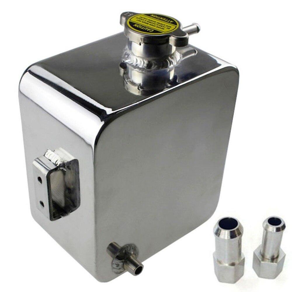 Aluminium universel 2 litres en alliage poli en-tête réservoir d'eau d'expansion et capuchon 2L chaud