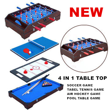 36 Multi function 4 in 1game table top kids toy table 4 different game ( soccer / table tennis/ air hockey/ pool )