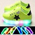 2017 de la manera led glowing iluminado deportes shoes sneakers shoes ventas calientes muchachos de las muchachas del bebé de la alta calidad del bebé shoes envío gratis