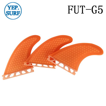 Surfing Water Sport Future G5 Fins Quilhas Orange Fibre Honeycomb Surf Board