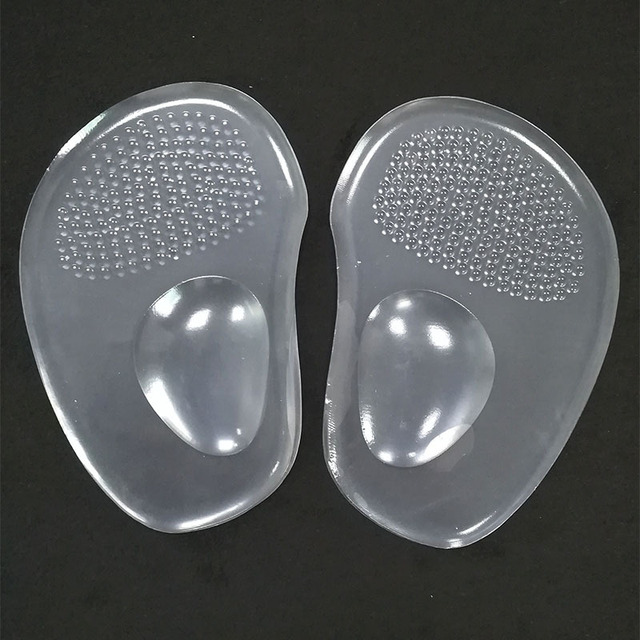 1 Pair Women Soft Silicone Gel Cushion Insoles Metatarsal Support Insert Pad Shoes Insoles