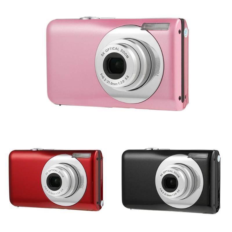Ultra Mince 8X Optique Zoom Lentille 16MP HD CMOS Capteur Numérique Enfants Caméra Caméscope Enregistreur Vidéo