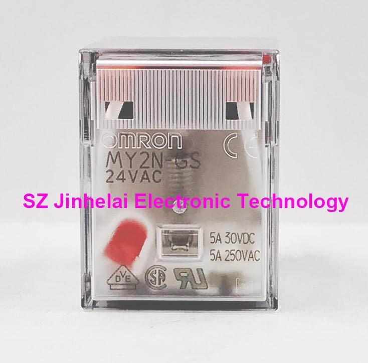 MY2N-GS AC24V New and original OMRON RELAY 2NO 2NC 8pin 24VAC new original omron relay 5pcs lot my2n gs ac220v my2n gs 220vac my2n j 220vac my2n gs 220 240vac my2n j 220 240vac 5a 8 pin
