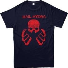 Novelty Cool Tops T Shirt  Hail Hydra MenS Design O-Neck Short-Sleeve Shirts