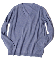 goat cashmere merino wool blend knit men's fashion pullover sweater V neck for spring autumn XS100/S105/M110
