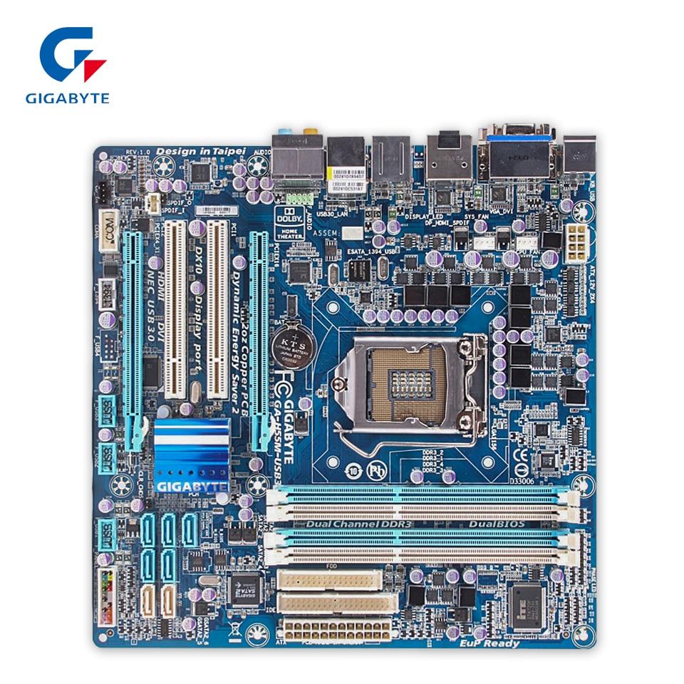 все цены на  Gigabyte GA-H55M-USB3 Original Used Desktop Motherboard H55M-USB3 H55 LGA 1156 i3 i5 i7 DDR3 16G Micro-ATX  онлайн