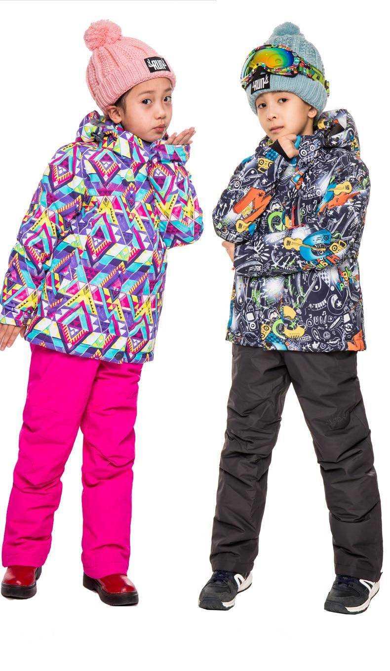 8158c6003b 2019 Ski Pants Kids Snow Clothes Boys Girls Snow Pants Kids Warm ...
