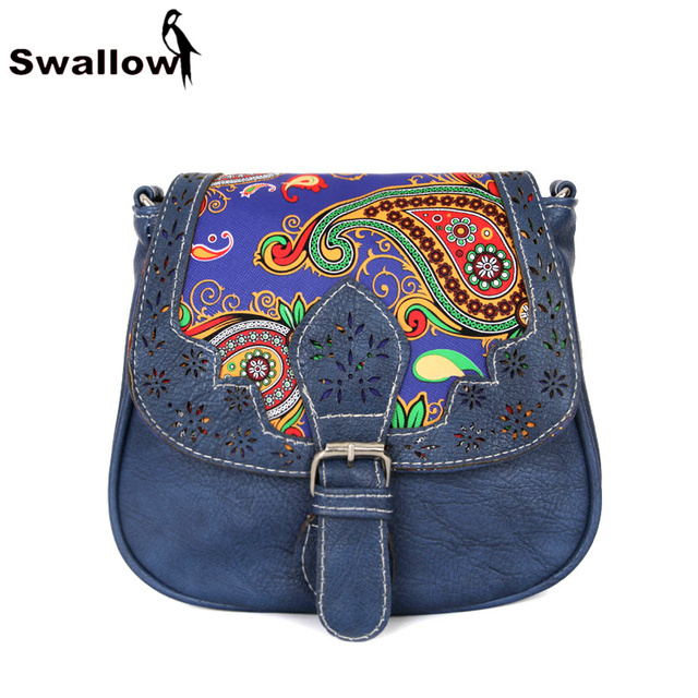 National Embroidery Saddle Small Crossbody Bags For Women Vintage Bags Ladies Leather Leopard Shoulder Bags Famous Brand Hasp