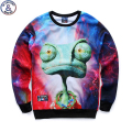 Mr.1991 brand newest youth 3D Extraterrestrial printed hoodies boys teens Spring Autumn thin sweatshirts big kids 12-18 W14