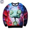 Mr.1991 marca más nueva juventud 3D Extraterrestre impreso hoodies niños adolescentes Primavera Otoño fina sudaderas niños grandes 12-18 W14