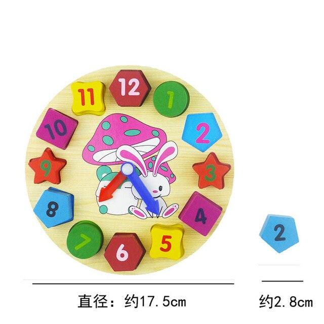 Montessori lapin forme de lapin tri horloges numériques en bois bébé jouets blocs jouets mathématiques éducation de la petite enfance enfants jouets
