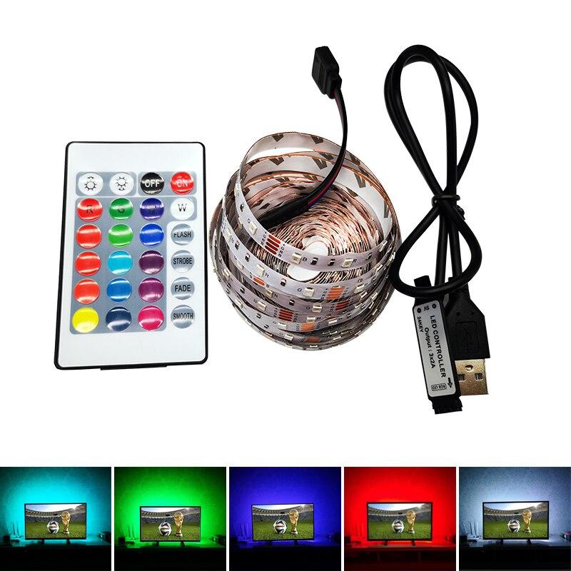 LED DC 5V Night Light With USB Port Cable LED Strip Light SMD 3528 Lamp For TV / PC / Background 50 CM 1 M 2 M 3 M 4 M 5 M