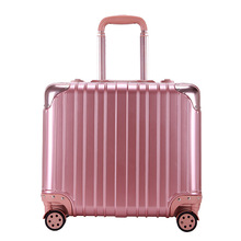 High-End Aluminum Frame Hard Case Luggage Universal Wheels Trolley Luggage Men and Women Travel Suitcase 18″ Boarding case
