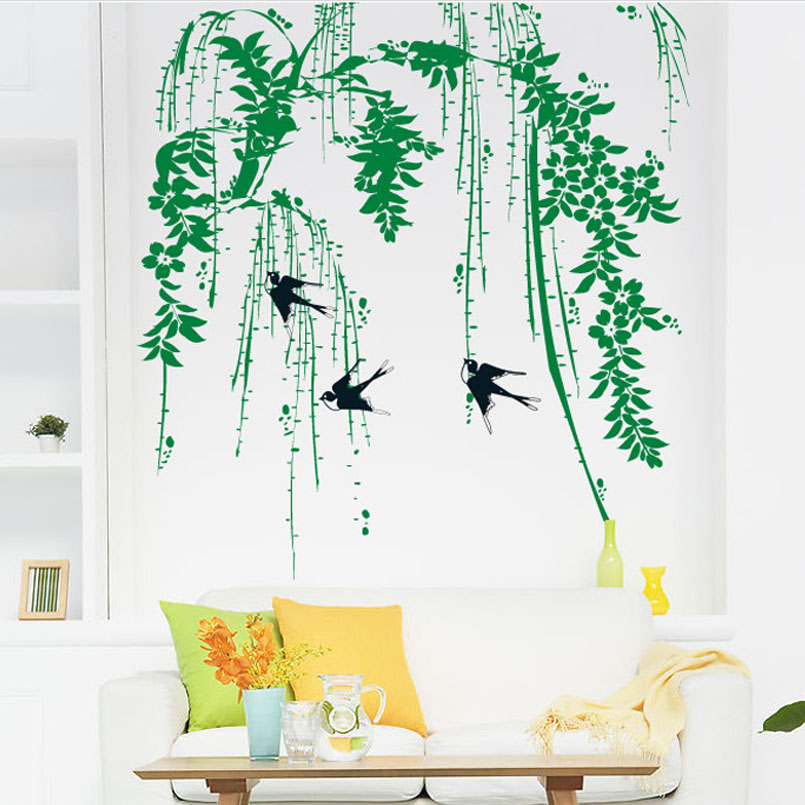 Popular Swallow Wall Stickers-Buy Cheap Swallow Wall ...