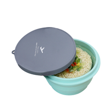 Folding Silicone Storage Bowls With Lid Lunch Box Food Container Camping Travel Tableware Kitchen Organizer Dining Accessories