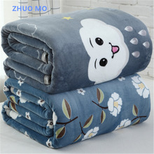 2019 new high quality Coral fleece Warm Blankets Fleece Plaid Warm sheets for home Soft Throw On Sofa Bed Blankets