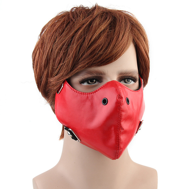 Motorcycle Face Mask Anti-fog Balaclava Face Shield Windproof Biker Riding Outdoor Mask PU Leather Face Mask For Men Women 5