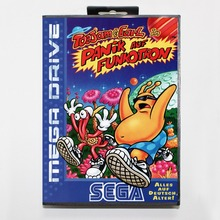 Toejam & Earl In Panic on Funcotron 16 bit MD card with Retail box for Sega MegaDrive Video Game console system