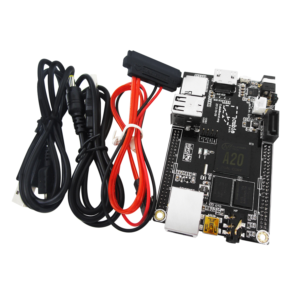 1 Set = 1pcs Raspberry Pi Mini PC Cubieboard 1GB ARM Development Board Cortex-A7 + SATA Cable+ 1pcs Power Supply Wire hailangniao pc cubieboard a20 dual core development board with power cable sata wire usb to ttl line with case