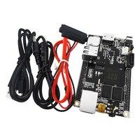 1 Set = 1pcs Raspberry Pi Mini PC Cubieboard 1GB ARM Development Board Cortex A7 + SATA Cable+ 1pcs Power Supply Wire