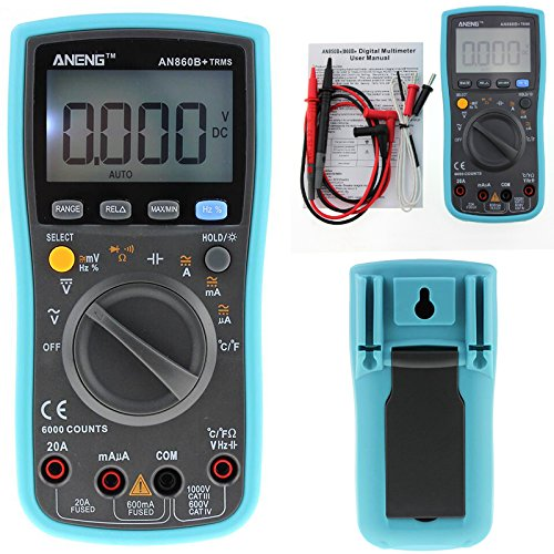 ANENG AN860B+ Backlight Digital Multimeter AC/DC Current Voltage Resistance Frequency Temp Tester LCD 6000 counters цена