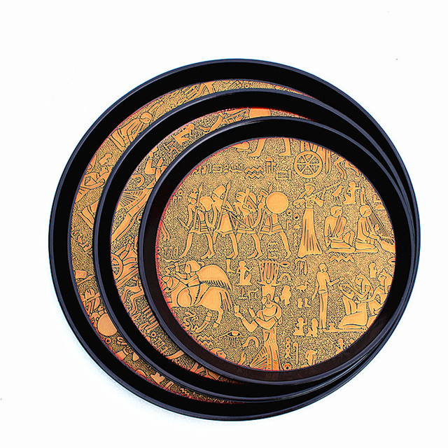Ancient Egypt Themed Round Serving Tray