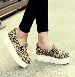 Moda 17 letras más el tamaño 31 ~ 43 mocasines de plataforma de mujeres solos zapatos