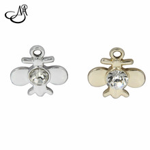 20pcs/lots Crystal Silver/Gold Floating Charms Plane Four leaf Clover Dangles Charms Fits DIY Handmade Bracelets Jewelry Making