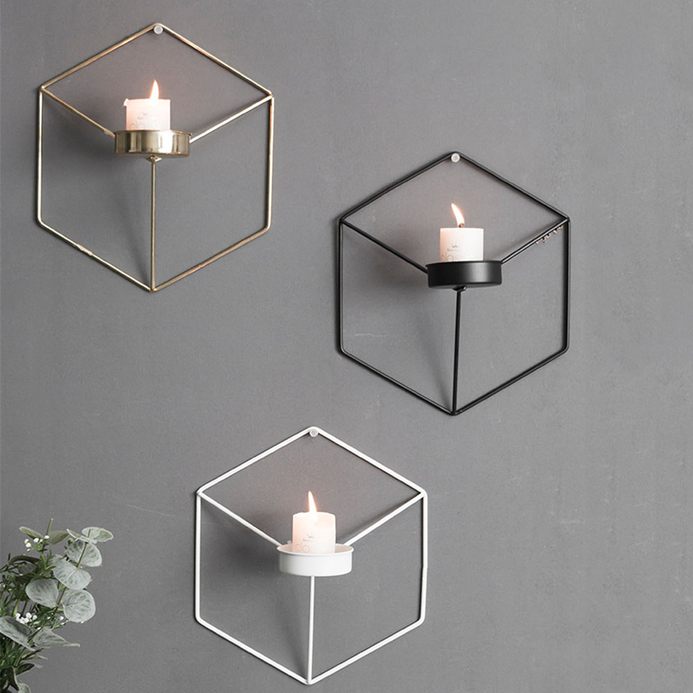 Hexagonal Wall Hanging Candlestick Nordic Ins Decor Metal