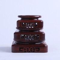 7 5 10 5cm Diameter Red Sandalwood Vase Base Carved Flower Pattern Stone Seal Teapot Tray