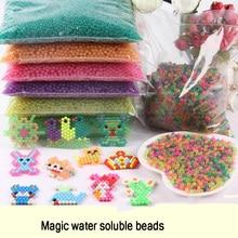 24 Цвета 6000 шт. 5 мм волшебный бисер воды Aqua Beads детей головоломки игрушки Набор Обучающие Детские игрушки