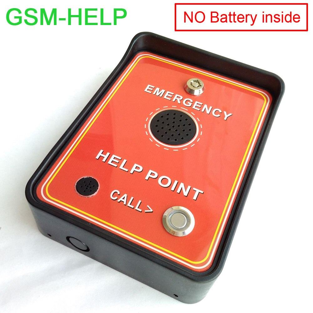 2016 Pluie Preuve GSM d'urgence Numéro Vert GSM D'urgence Aider point Mains Libres interphone