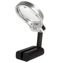 Multifunctional Desktop Handheld Magnifier Jewelry Loupe Adjustable Angle Reading Watch Repair Magnifying Glass LED Desk Lamp цена и фото