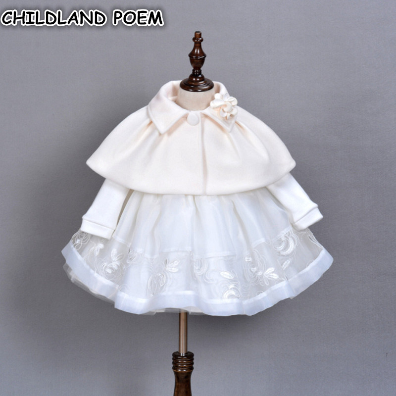 1 Year Birthday Baby Dress Christening Gowns Newborn Baby Wedding Party Princess Tulle Baby Girl Dress Infant Baptism Dress