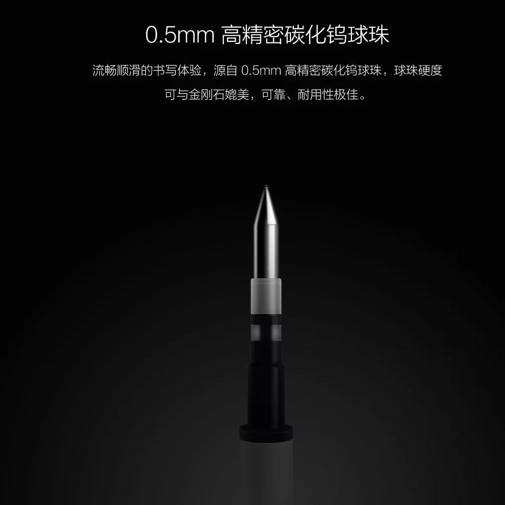 Oryginalny xiaomi podpisanie pen premec mijia znak pióra 9.5mm smooth szwajcaria mikuni japonia ink refill dodać mijia długopis czarny napełniania 3