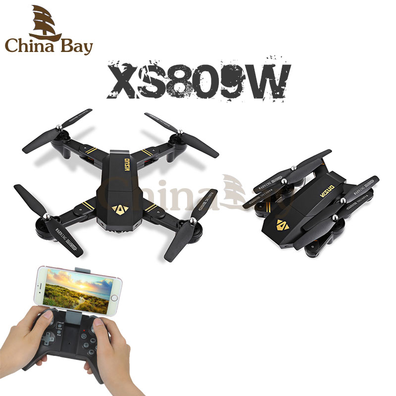 Rc Helicopter XS809W XS809HW Mini Foldable RC Selfie font b Drone b font with Wifi FPV