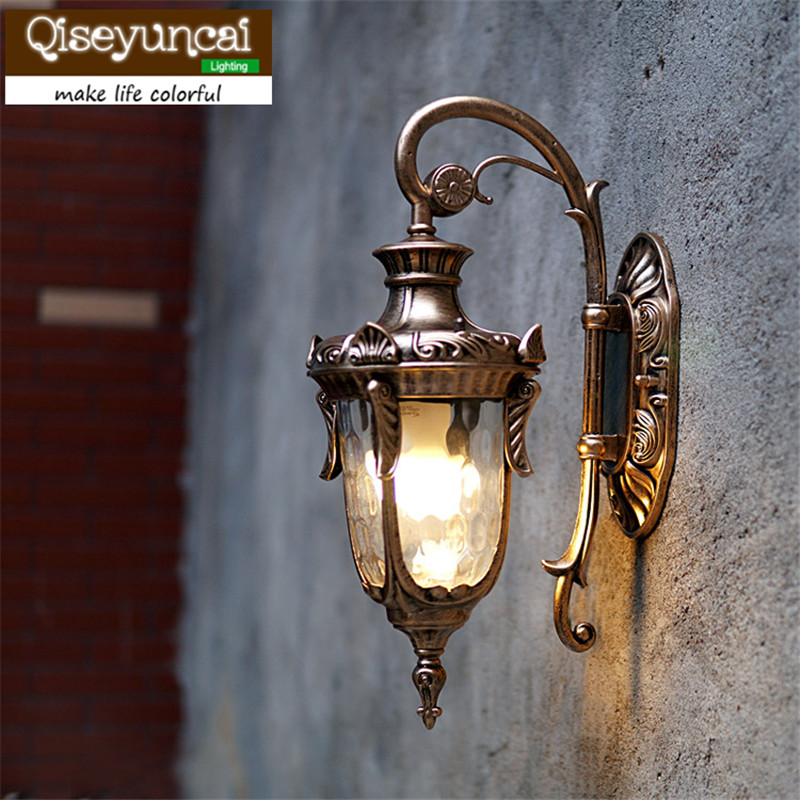 Qiseyuncai European outdoor wall lamp retro aisle of villa LED exterior wall light waterproof outdoor wall light garden light european style outdoor wall lamp american style villa retro garden garden corridor led exterior light waterproof outdoor lu62710