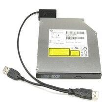 Надежный Ноутбук USB 2.0 до 7 + 6 13Pin Slimline Slim SATA CD/DVD Оптический Привод Кабель-Адаптер Удобно использовать