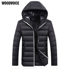 Brand Men Jacket Autumn Winter High Quality Hooded Coats Mens Casual Thicken Parka Outwear Windproof Cotton-padded Clothes Male