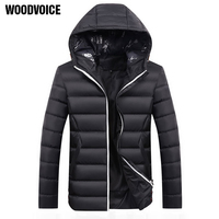 Brand Men Jacket Autumn Winter High Quality Hooded Coats Mens Casual Thicken Parka Outwear Windproof Cotton