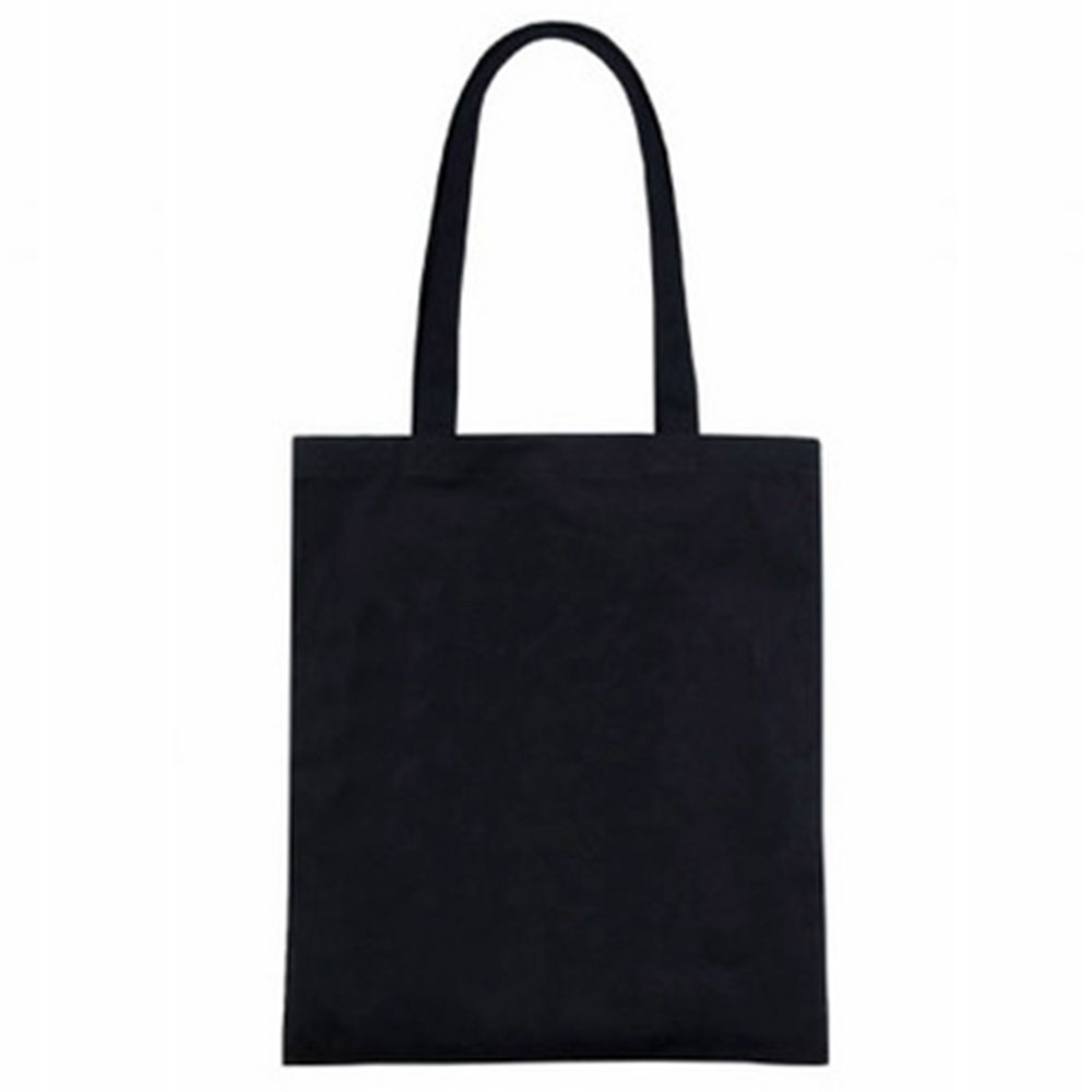 """e783183025 14 """"W x 16 """"H White Black Eco Bags 12oz Cotton Zipper Natural Shopping  Blank Canvas Tote Bag Plain Reusable-in Shopping Bags from Luggage   Bags  on …"""