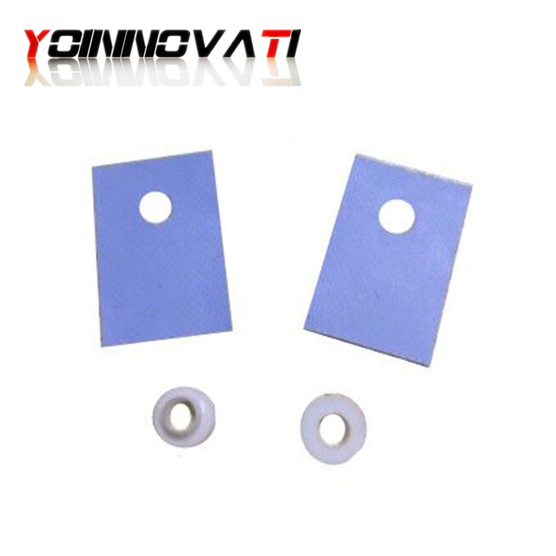 Free Shipping 100 Pcs TO-220 Silicone Thermal Heatsink Insulator Pads W/Insulating Particles For LM78XX/LM317/TDAXX