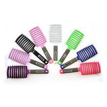 Big Comb Plastic Styling Anti-Static Comb Bent Hair Dressing Comb Styling Tool Massage Nourish Scalp And Hair Treatment Comb janeke silver medium styling comb