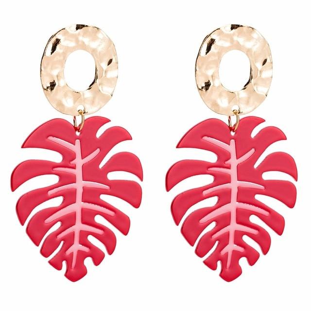 Qiaose 6Colors Resin Leaf Charms Dangle Drop Earrings for Women Fashion  Jewelry Boho Maxi Collection Earrings 5cea176e7189
