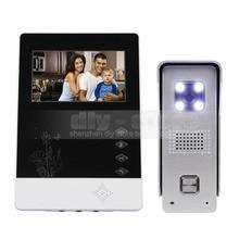 DIYSECUR 4.3 inch TFT Color LCD Display Aluminum Alloy CCD Camera Video Door Phone Intercom Doorbell LED Color Night Vision