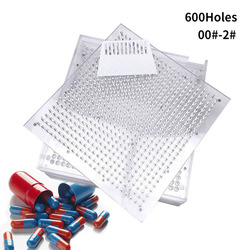 00 #-2 #-600 отверстие плексигласовая Капсульная доска/машина для наполнения капсул/машина для ручного наполнения капсул, ручная упаковочная ма...