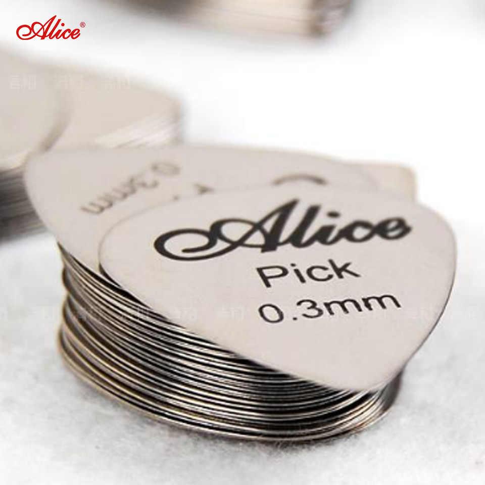 Alice 6 sztuk gitary basowe, ze stali nierdzewnej akustyczna gitara elektryczna Plectrums 0.30mm